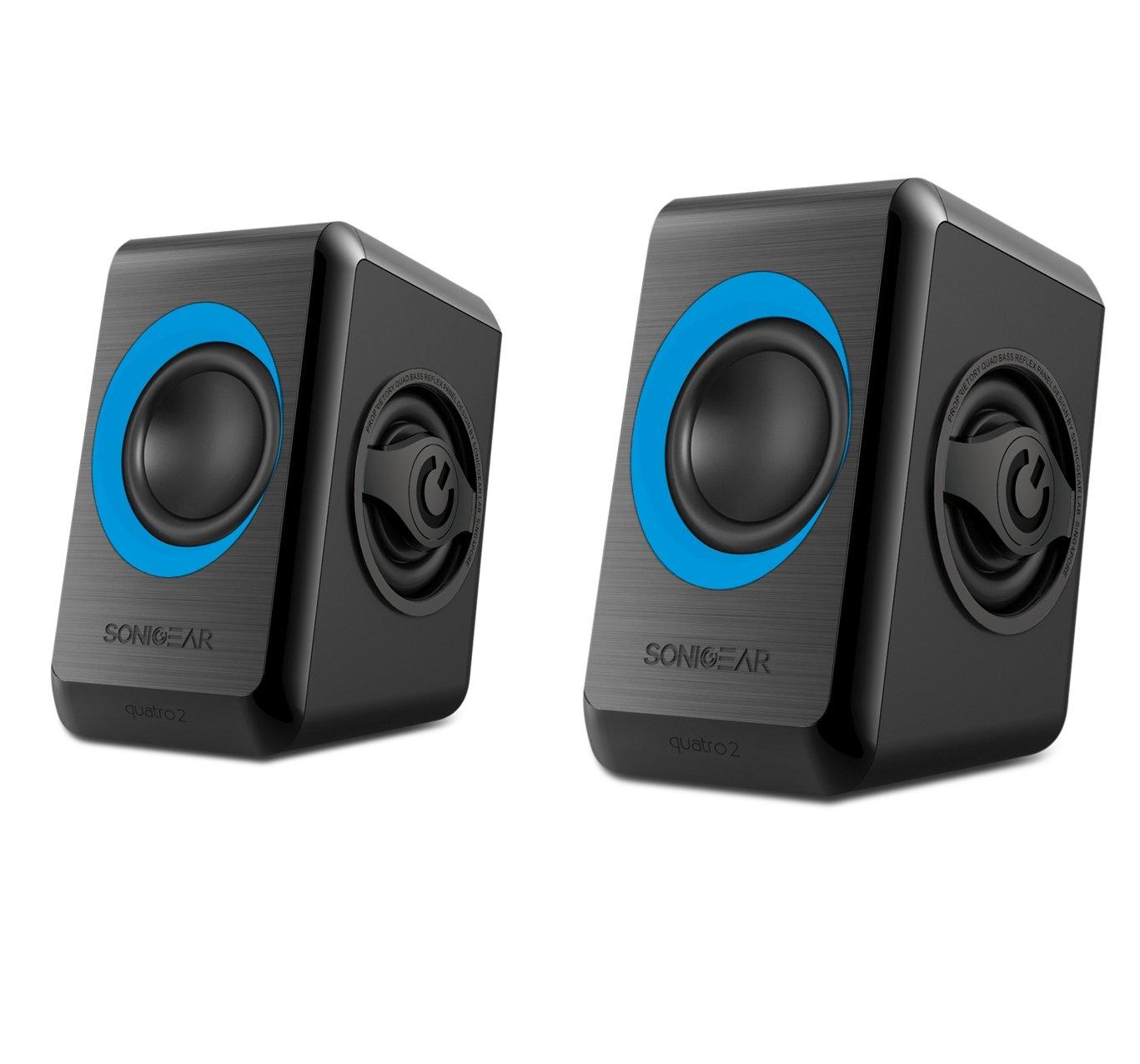 Sonicgear Quatro 2 Quad Reflex Bass Speakers - Blue