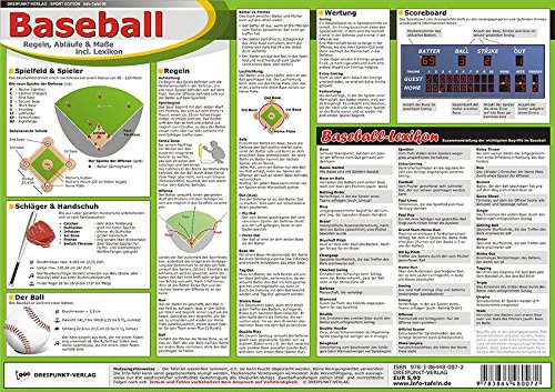 Baseball: Regeln, Abläufe & Maße incl. Lexikon Broschiert – 1. September 2011 Michael Schulze Schulze Media 3864480078 Ballsport
