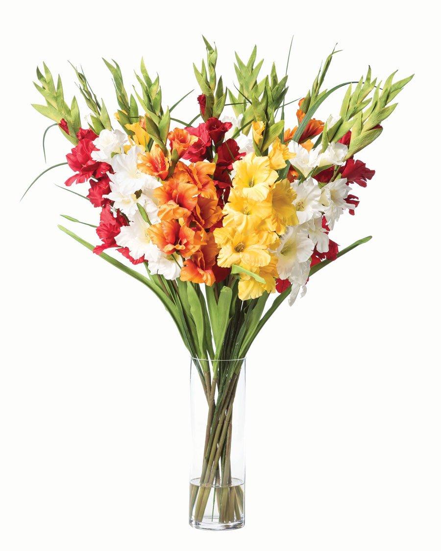 Cheap silk gladiolus topsimages gladiolus silk flower arrangement mixed colors home kitchen jpg 900x1124 cheap silk gladiolus izmirmasajfo