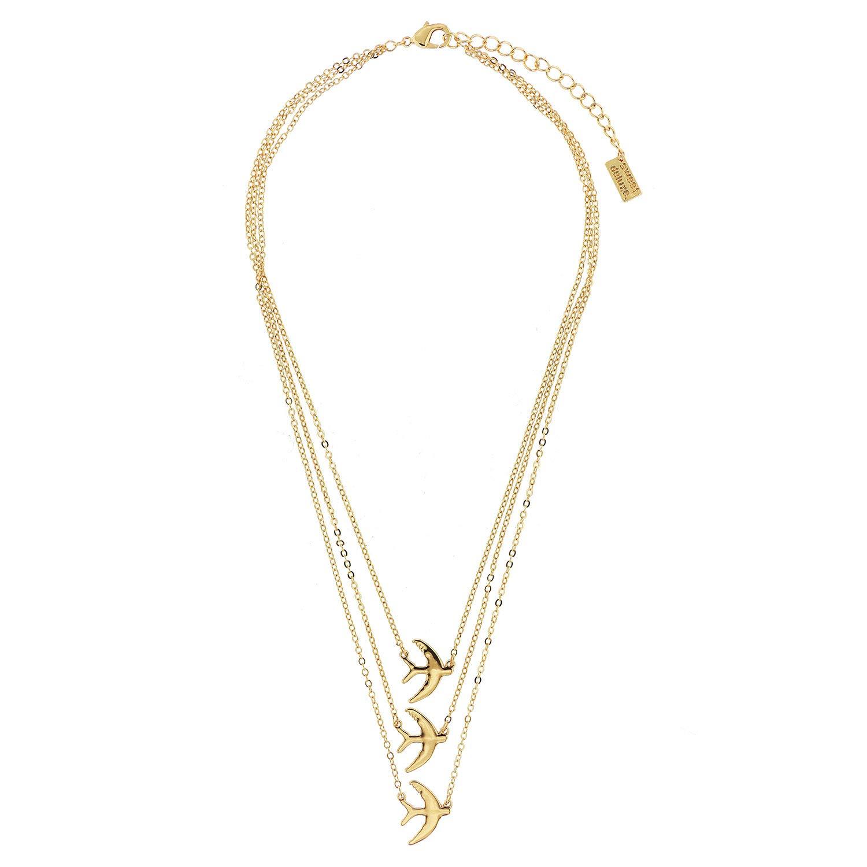 Sweet Deluxe Cadena Golondrinas, Oro I Elegante Collar para ...