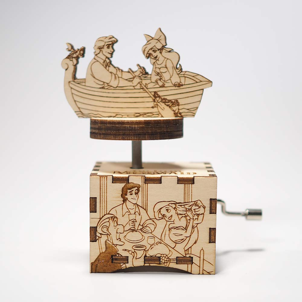 The Little Mermaid Music Box - Part of your world - Laser cut and laser engraved wood music box. Perfect gift, memorabilia, collectible