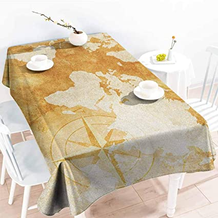 Amazing Amazon Com Familytaste Compass Table Cloth Home Decoration Download Free Architecture Designs Terchretrmadebymaigaardcom
