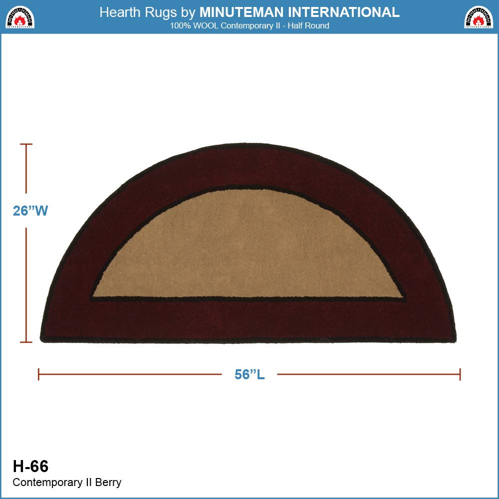 Rectangular Minuteman International ACHLA Designs H-65 Minuteman International Contemporary II Dusk Wool Hearth Rug