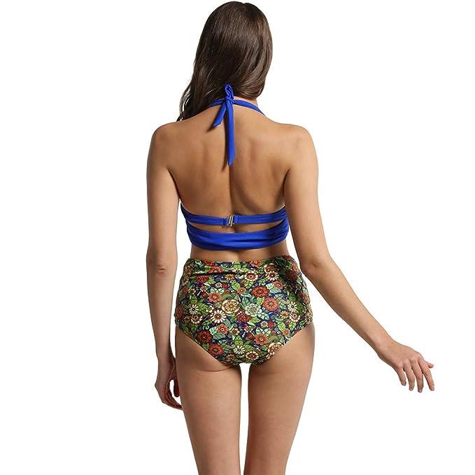 Amazon.com: Megartico - Bikini de cintura alta con control ...