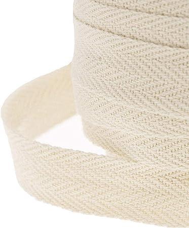 Rollo de cinta para costura, WareHouseShop, de 10, 20, 50 m, hecho de algodón, algodón, beige, 50 Meter (25mm): Amazon.es: Hogar