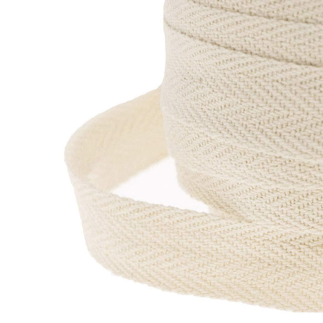 10/meter algod/ón 25/mm 1/espiga banderines de costura Craft delantal de sarga costura cinta/ mync /Beige