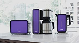 Panasonic BC Violet Breakfast Collection Trio of Coffeemaker with Toaster and Kettle, Violet
