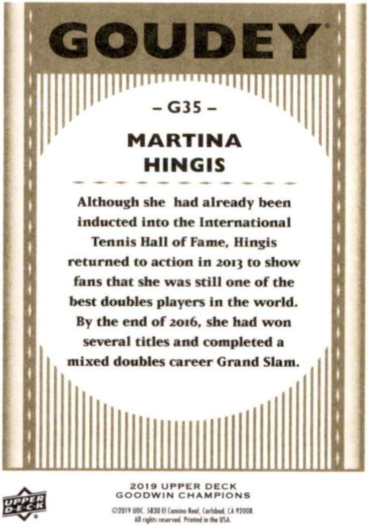 2019 Ud Goodwin Champions Goudey #G35 Martina Hingis-tenis