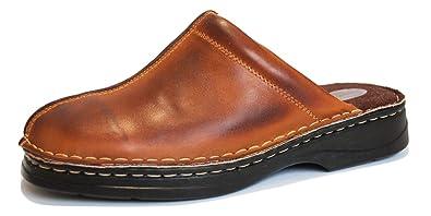 el precio más bajo 71743 6476c KS - 30 - Zuecos para Hombre - Ideales para Verano - Cuero - Marrón