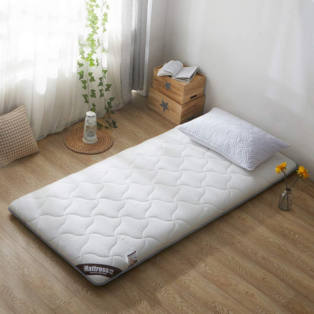 A 90x190cm(35x75inch) WYMNAME Japanese Floor Futon Mattress, Quilted Foldable Roll Up Mattress Topper Sleeping Pad for Home Apartment Student Dormitory-c 150x190cm(59x75inch)