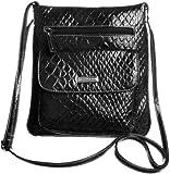Koltov Harper Glazed Boa Crossbody Handbag BLACK, Bags Central