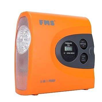 FMS Compresor Digital con Luz LED, 12V, 150 PSI, 3.5m Cable Compresor de Aire Digital Portátil Por Una Variedad de Coche