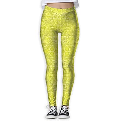 4308b49b14 GIAHSO Women's Batik Doodle in Olive Fabric (1700) Activewear High-Waist  Tights Leggings Yoga Pants at Amazon Women's Clothing store: