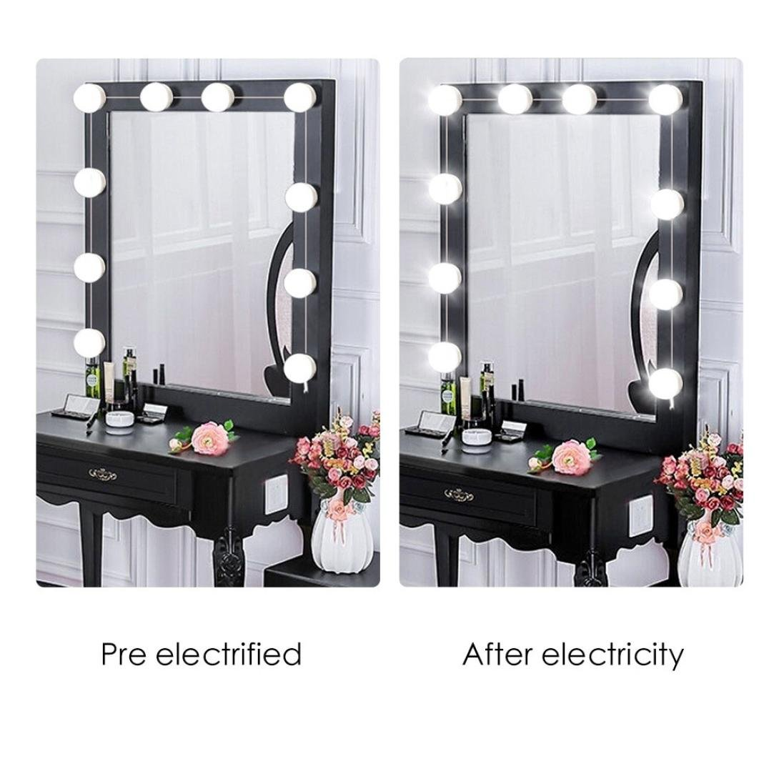 Goldatila Vanity Kit de luces de espejo de maquillaje, tira con 10 ...