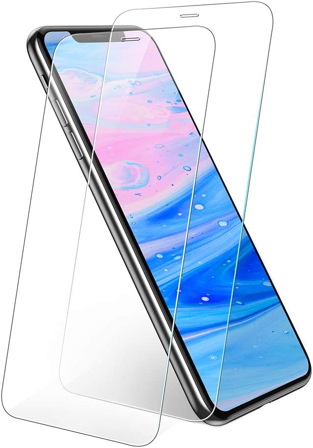 UGREEN Screen Protector 2 Pack compatible for iPhone 11 Pro Max 6.5-inch, Premium Tempered Glass HD Screen Saver, 9H Hardness, 2.5D Rounded Edge, Bubble-free, Anti-Fingerprint, with Align Frame