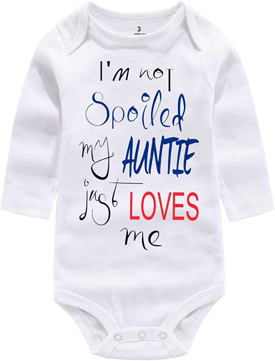 Newborn Infant Baby Bodysuit Gifts Grandma/Auntie Loves me Romper Cotton Jumpsuits for Boys Girls