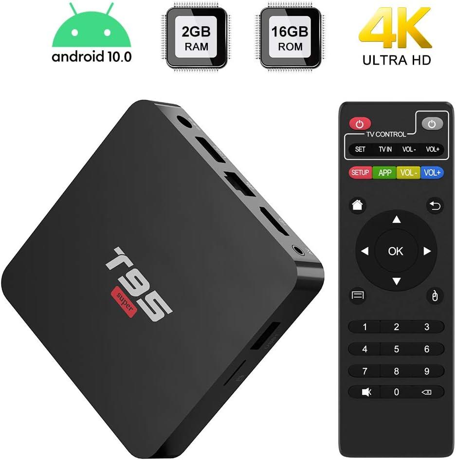 Android 10.0 TV BOX,T95 SUPER TV BOX 2GB RAM/16GB ROM Allwinner ...