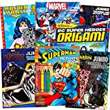 Superhero Giant Coloring Book Assortment ~ 7 Books Featuring Avengers, Justice League, Batman, Spiderman and More (Includes Stickers)