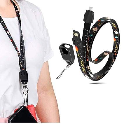 Amazon.com: Cable de carga USB para teléfono móvil, cable de ...