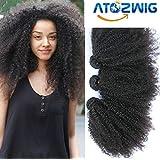 ATOZWIG@Mongolian Kinky Curly Hair 3Pcs Mongolian Afro Kinky Curly Virgin Hair Human Hair Weave Bundles Deals Rosa ATOZWIG Hair Products by ATOZWIG