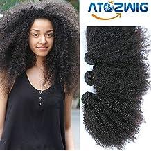 ATOZWIG Mongolian Kinky Curly Hair 3Pcs Mongolian Afro Kinky Curly Virgin Hair Human Hair Weave Bundles Deals Rosa ATOZWIG Hair Products