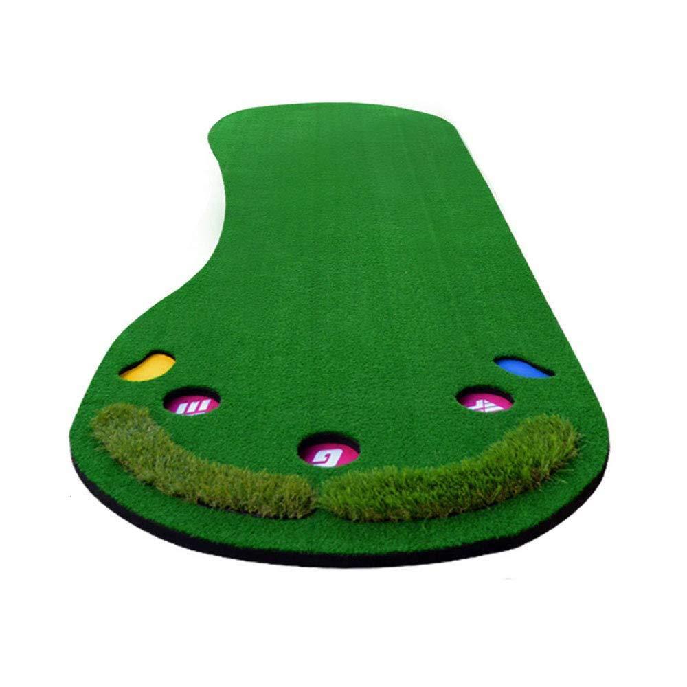CNインドアゴルフトレーニングマット、ゴルフマット、1×3M芝生ビッグペダルパター練習用ブランケット、A、ワンサイズ B07L8D999F