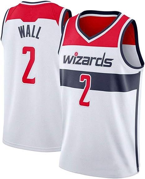 Aojing John Wall # 2 Jerseys del Baloncesto de Nueva Tela Bordada ...