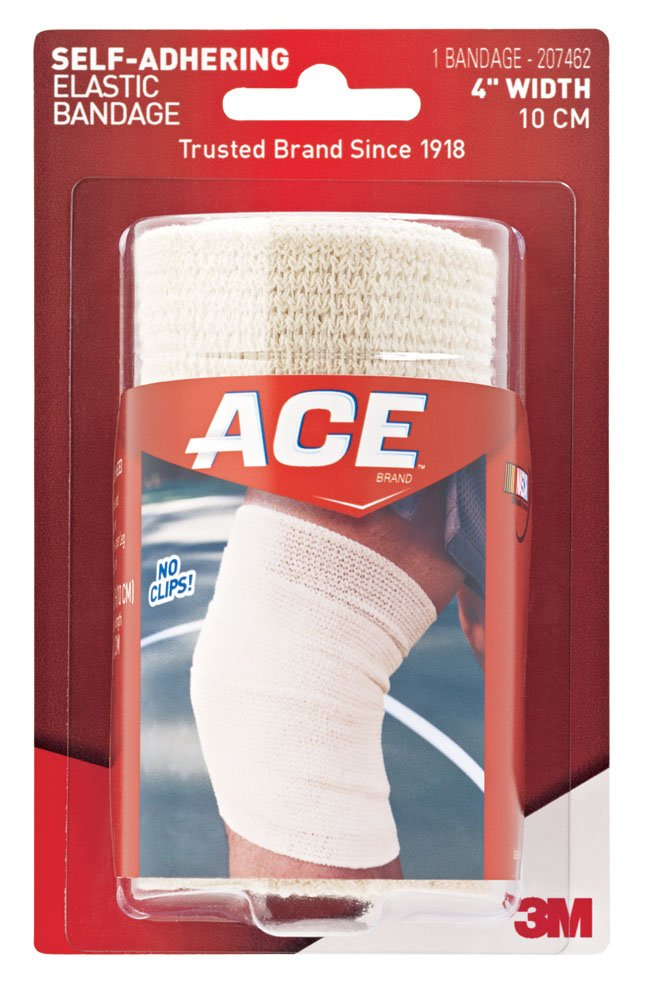 Ace Self-Adhering Elastic Bandage, 4 inches 1 each by Ace (Pack of 2)