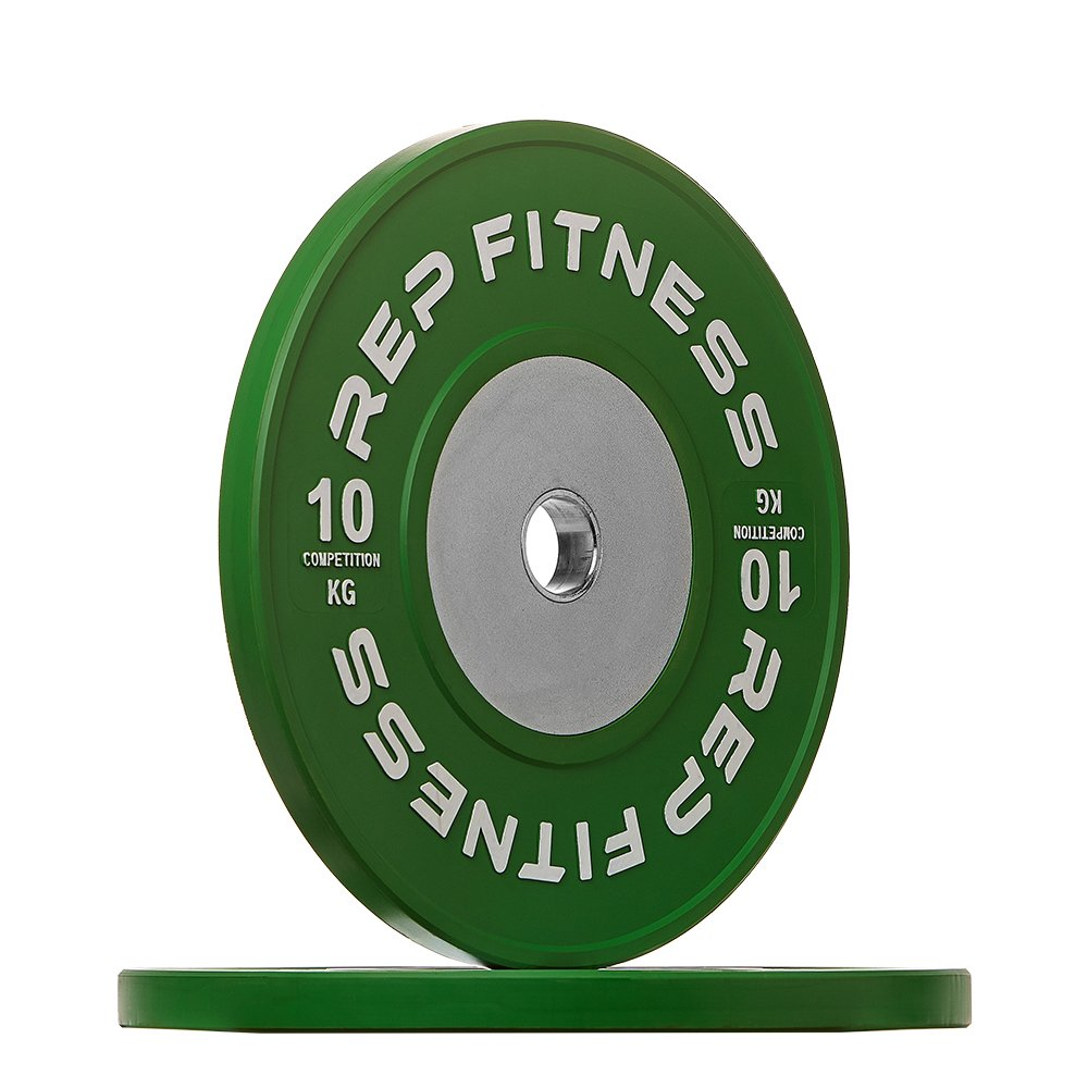 Rep kg Competition Bumper Plates for Olympic Weightlifting, 10kg Pair