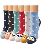 Ambielly Colorful Patterned Fashion Fun Comfort Casual socks Lightweight Cotton Women Socks (SD2000F)