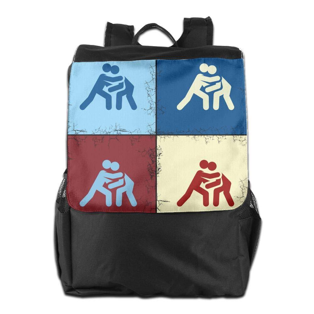 Louise Morrison Funny Catch Wrestling Pop Art Women Men Laptop Casual Business Travel Backpack College School Bookbag