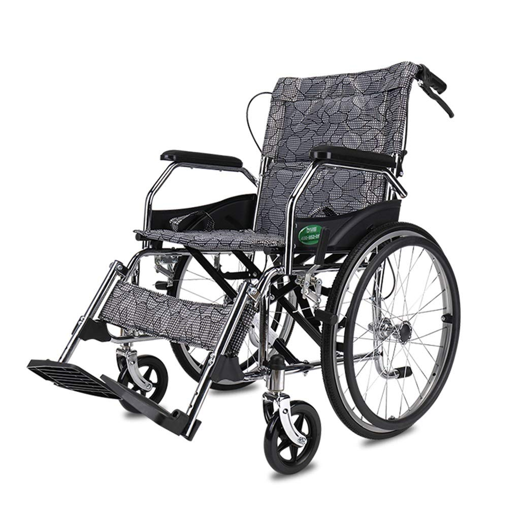 MLX Elderly Wheelchairs, Disabled Function Scooters, Solid Tire Carbon Steel Tubes, Suitable for People with Disabilities by MLXCY