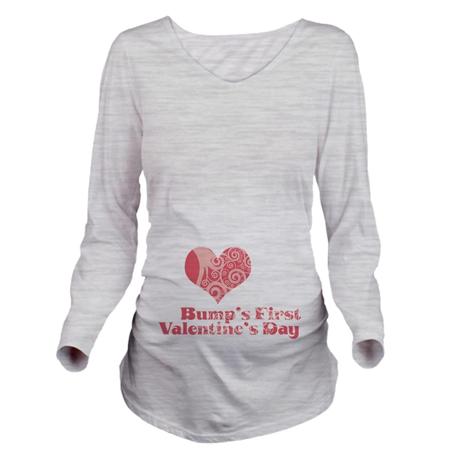 CafePress - Bumps First Valentines Day Long Sleeve Maternity T ...