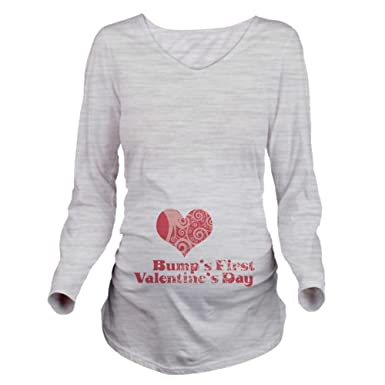 19f462ec CafePress Bumps First Valentines Day Long Maternity Tee at Amazon Women's  Clothing store: