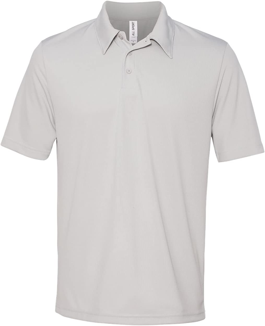ALO MENS S//S MSH PRFMNCE POLO S SPORT SILVER