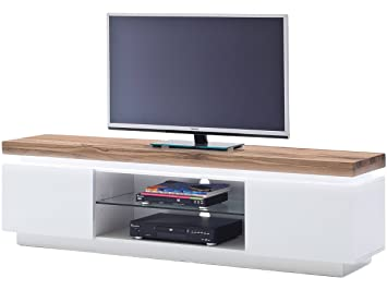 tv lowboard kommode sideboard rack unterschrank element weiss wildeiche quot lisa