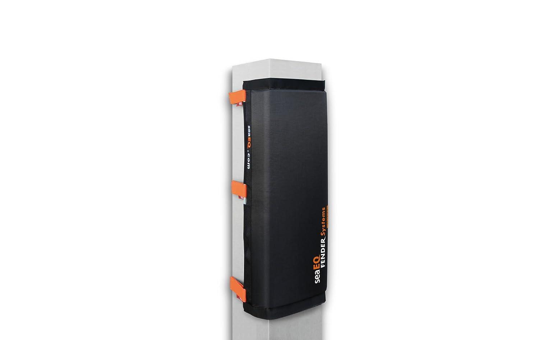 Hafenfender PF 40//80 schwarz M Spanngurtsystem PFS 650 f/ür mittlere Pf/ähle Dalbenfender seaEQ YACHTSPORT EQUIPPED Pfahlfender breit M