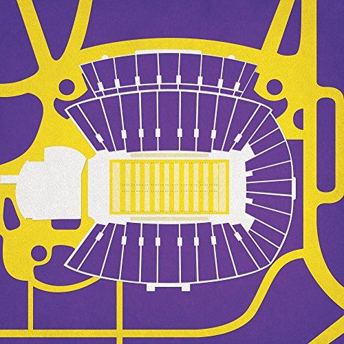 Dowdy-Ficklen Stadium Map Art, 24