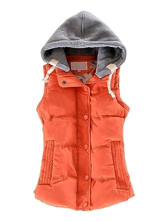 ea5fb66d608 OCHENTA Women Quilted Waterproof Outdoor Gilet Zipper Vest Jacket: Amazon.co .uk: Clothing