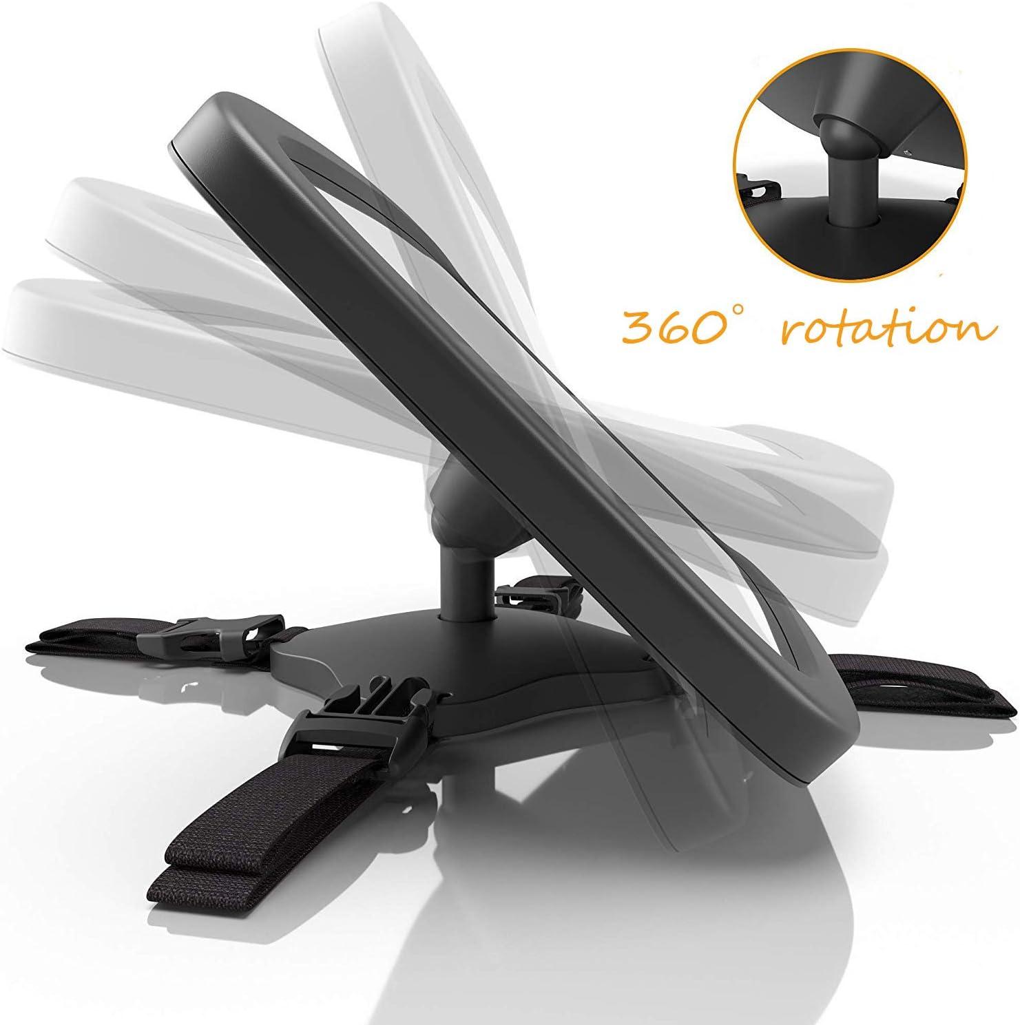 OUNDEAL Miroir Si/ège Arri/ère B/éb/é R/étroviseur de Surveillance B/éb/é pour B/éb/é en S/écurit/é Avez Une Rotation 360/°Anti-Oscillation Installation Facile