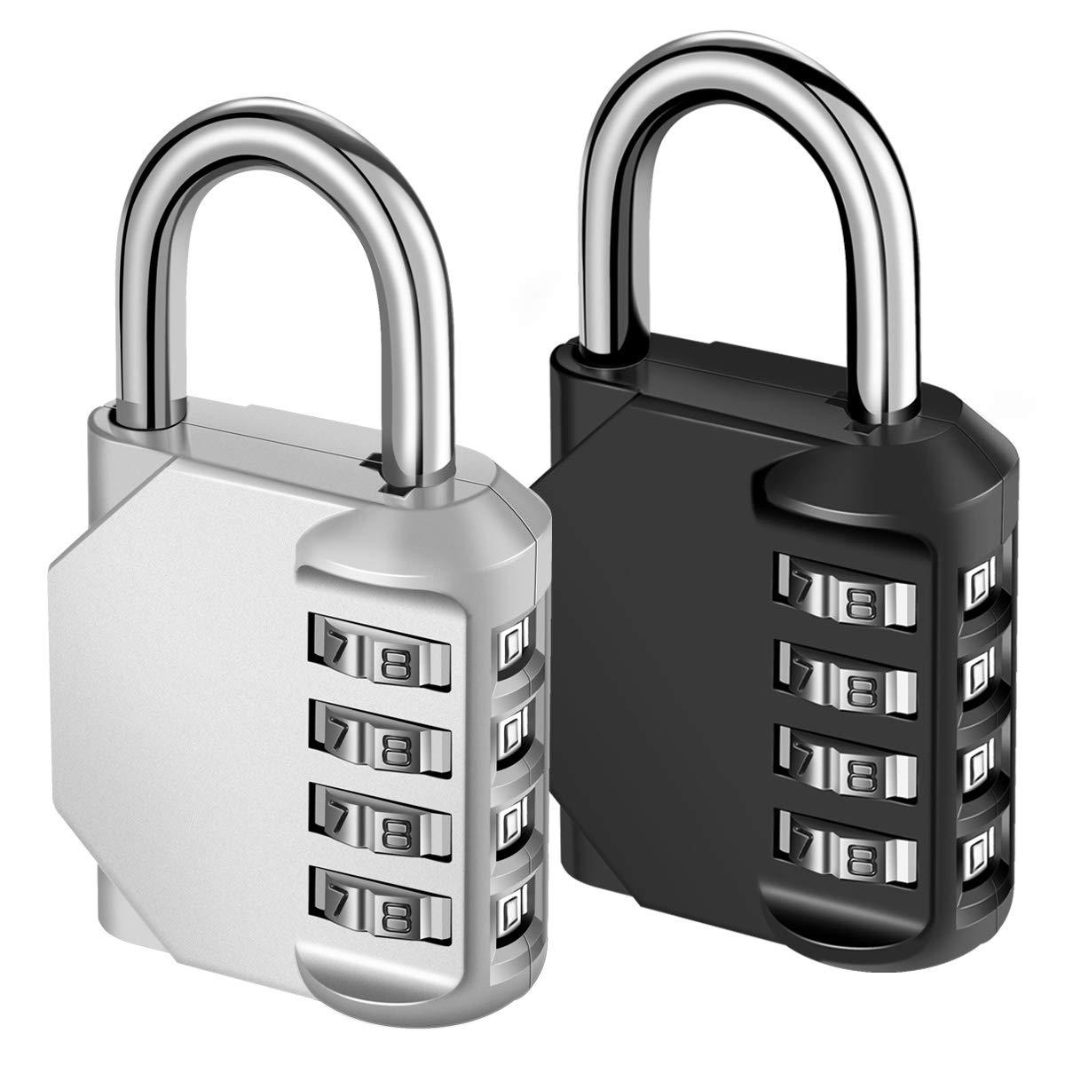 KeeKit Combination Lock, 4 Digit Combination Padlock, Waterproof ...