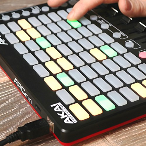 Akai Professional APC Mini | Compact Ableton Live controller with Ableton Live Lite Download (8x8 Backlit Clip-Launch Grid) by Akai (Image #1)