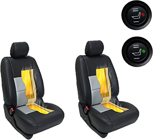 Premium Car Seat Heater Kit Hi//Lo Switch Settings Faster Warm Up 2 seat