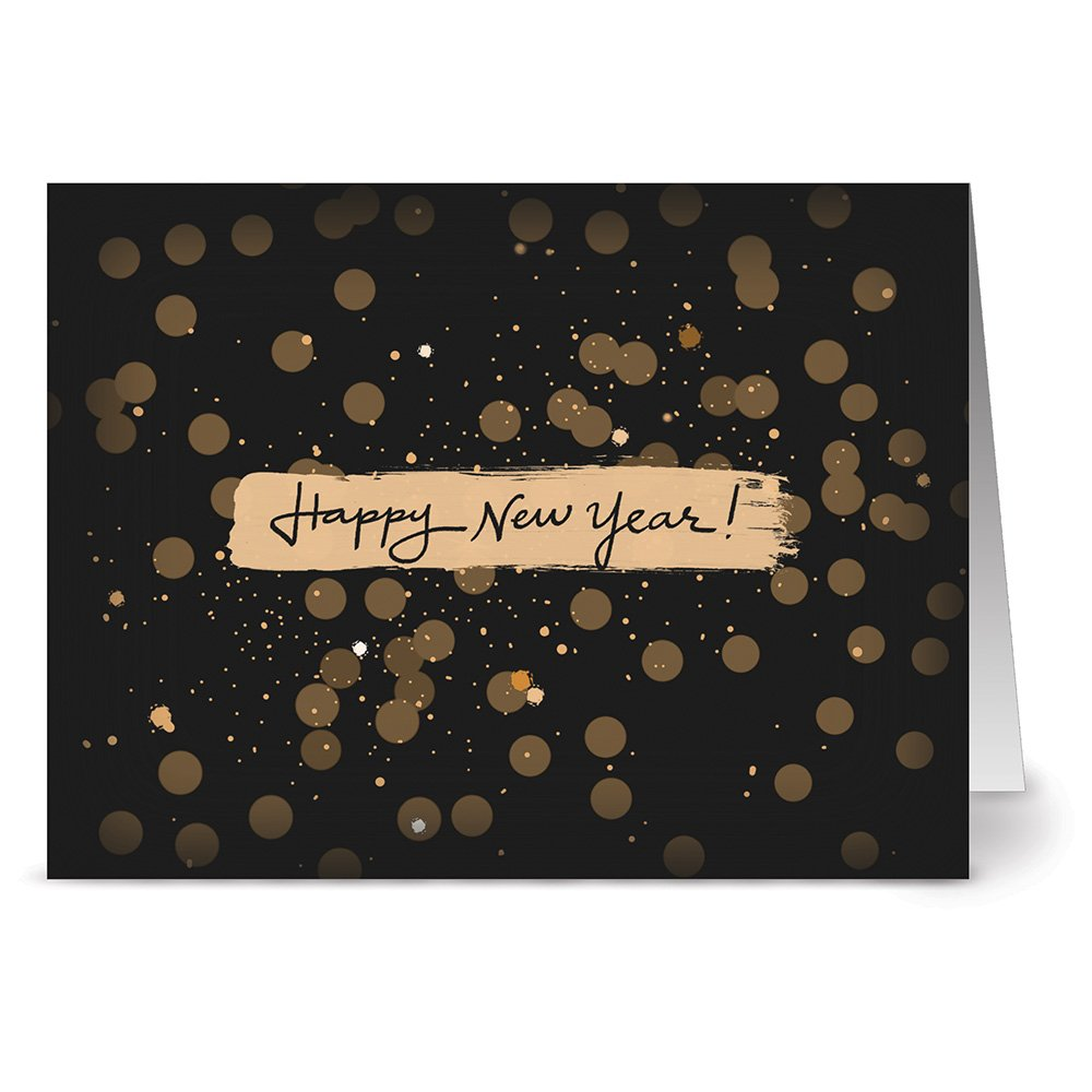 24 note cards glitzy new year blank cards ivory envelopes included