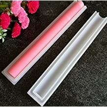 Justfund Round Shape Tube Column Silicone Soap/Candle Mold Embed Soap Making Supplies Tool Dia. 1inch