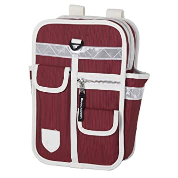 2f819a9b40be Goodordering Kids Mini Backpack Multi Pocket Retro Unisex Rucksack  (Maroon Red)  Amazon.co.uk  Sports   Outdoors