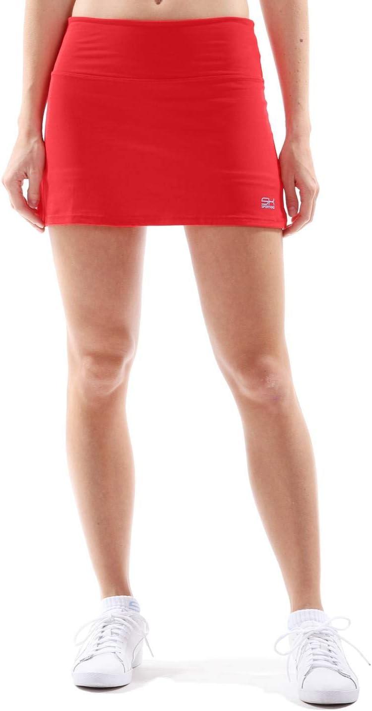 en Rojo a Partir de Talla 110/hasta XXL SPORTKIND Sport ni/ña y Mujer Basic Tenis//Hockey//Unidad Rock Falda con pantal/ón Interior