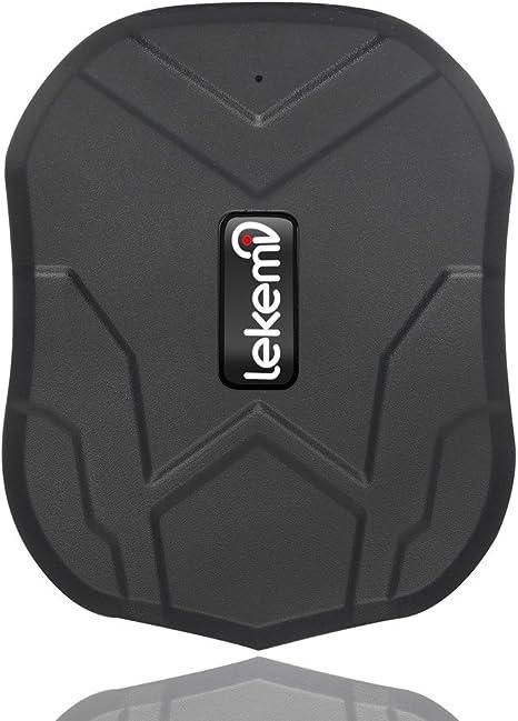 lekemi GPS Tracker Localizador para coche vehículo con libre funda para aplicaciones, fuerte imán y 5000 mAh recargable: Amazon.es: Electrónica