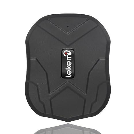 Localizador GPS Lekemi para coche con aplicaciones para smartphone, fuerte imán y batería de 5000/10000 mAh: Amazon.es: Electrónica