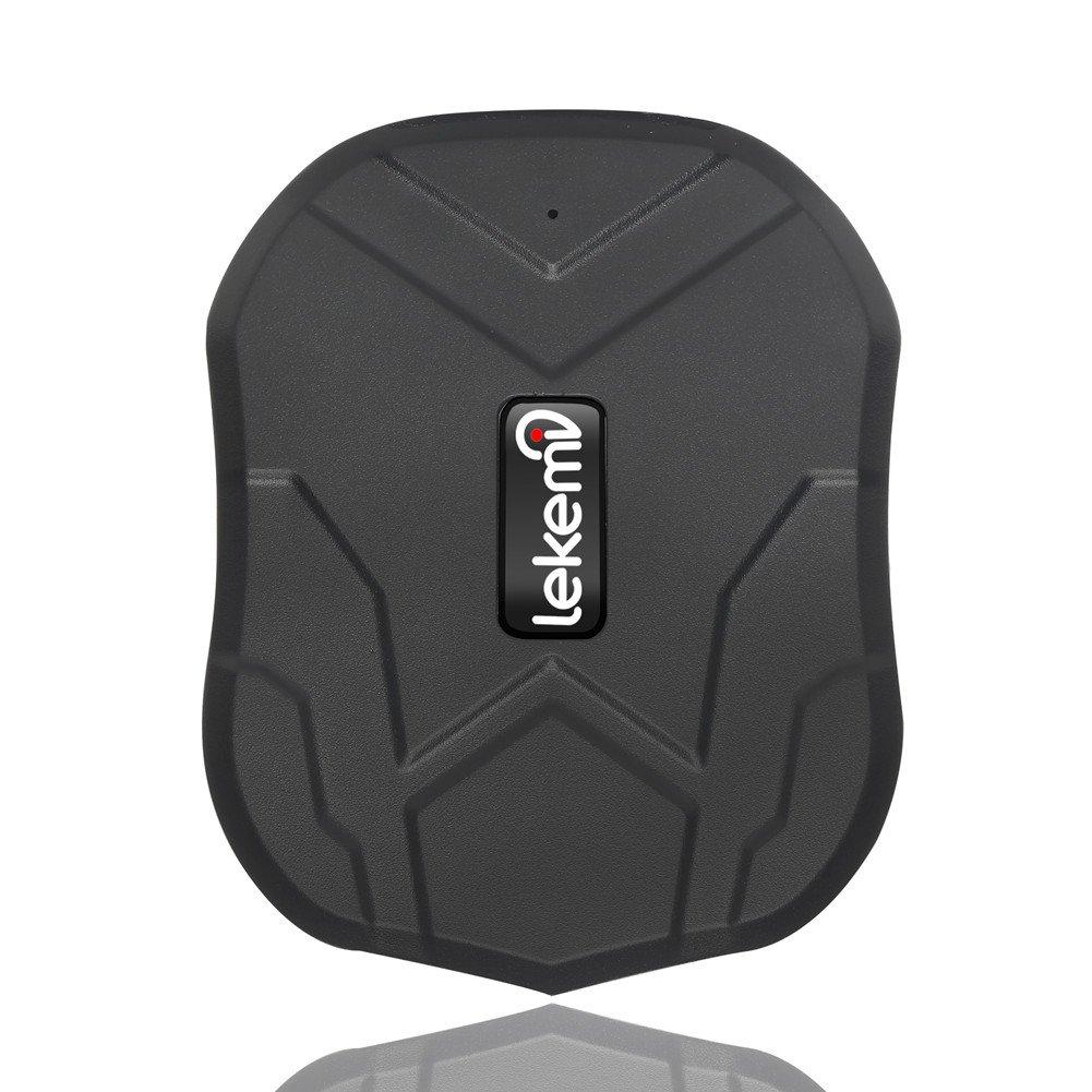 lekemi GPS Tracker Localizador para coche vehículo con libre funda para aplicaciones, fuerte imán y 5000mAh recargable product image